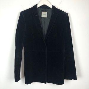 Costume National black velvet blazer jacket 6 42